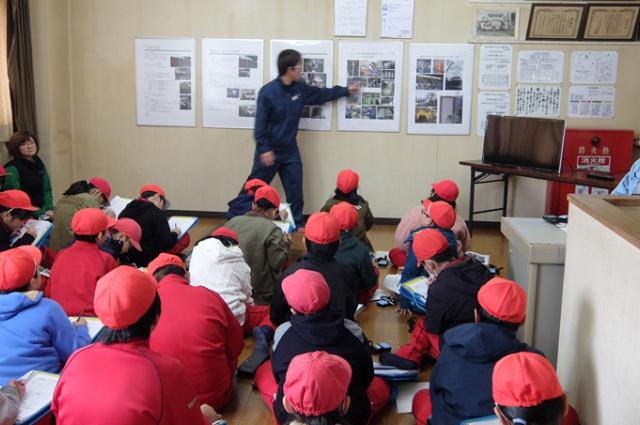 富士善工業(株)様 北上市立南小学校の見学