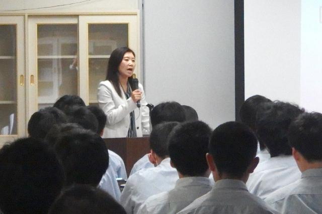 千厩高校産業技術科「進路講演会」 (株)長島製作所 新宮由紀子様